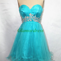 custom colors homecoming dress with crystals short pink tulle prom dresses sexy sweetheart cocktail gowns cheap homecoming dress