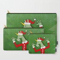 Santa Unicorn In the House Carry-All Pouch by thatssounicorny