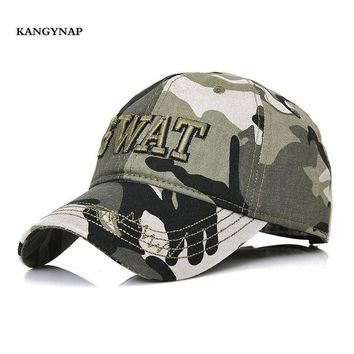 Trendy Winter Jacket [KAGYNAP] Outdoors Camouflage  Mens Tactical Baseball Cap Embroidery SWAT Cotton Sports Hat Men Trucker Caps Snapback Dad Hat AT_92_12