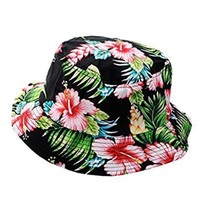 NYfashion101 Fashionable Unisex Satin Lined Printed Pattern Cotton Bucket Hat