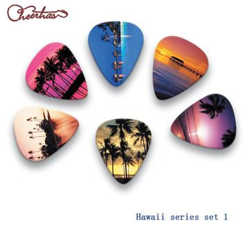 100pcs or 50pcs or 30 pcs Beautiful Hawaii series  Guitar Picks , can custom any logo .