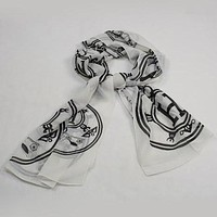 Perfect HERMES Woman Fashion Accessories Sunscreen Cape Scarf Scarves