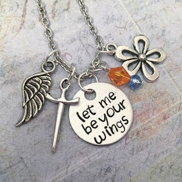 Let Me Be Your Wings V2 Necklace - Thumbelina Inspired Necklace - Fairytale Jewelry - Once Upon A Time Jewelry - Thumbelina