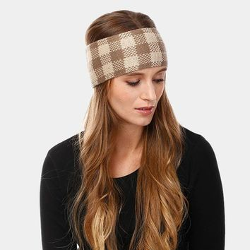 Plaid Check Soft Knit Headband (Click For More Colors)