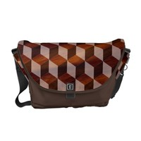 Messenger Bag - Faux inlaid wood