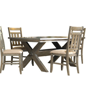Powell 5-Pc. Turino Dining Set - (1) 457-417 Dining Table & (4) 457-434 Side Chairs
