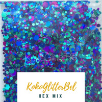 Holographic Glitter Hex- Hex Mix