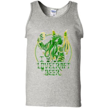 I Lovecraft Beer T-Shirt G220 Gildan 100% Cotton Tank Top