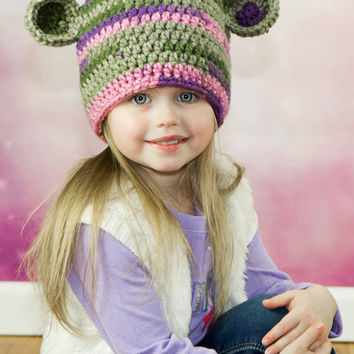 CROCHET PATTERN Bear Hat INSTANT Download / Crochet Bear Beanie Pattern for pictures / Pattern for kids / Crochet Chunky Bear Hat Pattern