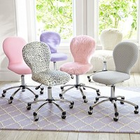 Round Upholstered Desk Task Chair