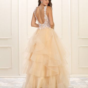 Prom Long Dress Evening Plus Size Gown