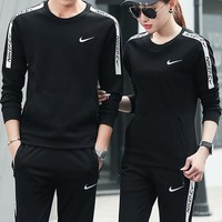 Nike Fashion Casual Hooded Sport Cardigan Jacket Coat Pants Trousers Set Two-Piece