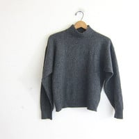 vintage gray cashmere sweater. minimalist sweater. super soft sweater