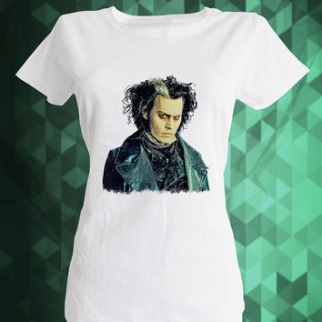 Johnny Depp Shirt,sweeney todd,Movie Star Shirt,johnny depp style,Printed T Shirt for Men,fashion tee,movie actor,movie shirt,best shirt