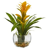Artificial Plant -Bromeliad With Vase Silk Plant