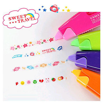 Sweet travel little flower deco tape Candy sweet food diary mood Decoration Tape deco pen tape pen taper kids cartoon icon Correction Tape