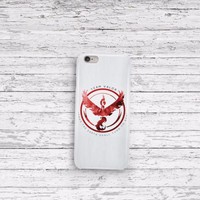Pokemon Go Team Valor  iPhone 5 5c 6 6plus and Samsung Galaxy S5 Case