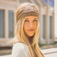 Gypsy Lace Headwrap in Sand