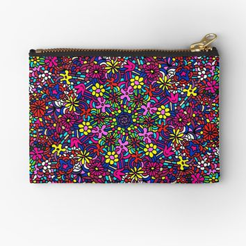 'Flower Power Doodle Art' Studio Pouch by Gravityx9