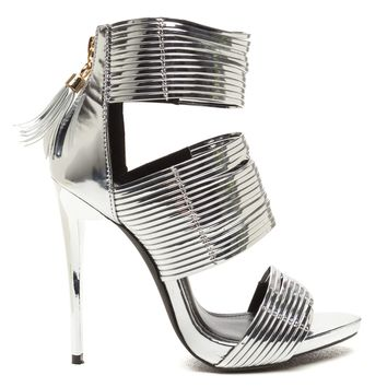 THE BLAME GAME STRAPPY SANDAL -SILVER