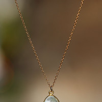 Moonstone necklace  gold moonstone  a fancy 22k gold by BubuRuby