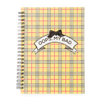 Clueless Oops, My Bad Plaid Notebook
