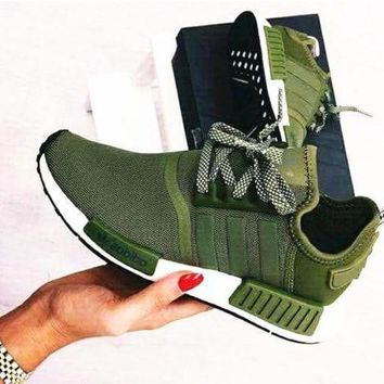 Adidas' NMD Women Fashion Trending Running Sports Shoes Sneakers Army green