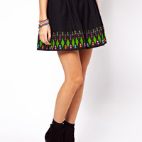 ASOS | ASOS Skater Skirt with Embellished Hem at ASOS
