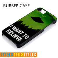 The X Files I Want To Believe iPhone 4/4S, 5/5S, 5C, 6/6 Plus Series Rubber Case