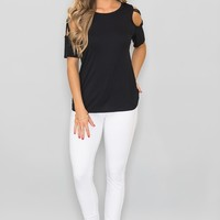 Found My Happy Place Blouse Black