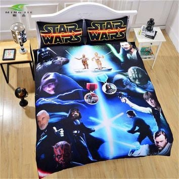Cool Star Wars Film 3D Bedding Set Print Duvet Cover with Pillowcases Twin Full Queen King Beautiful Pattern Real Lifelike MicrofiberAT_93_12