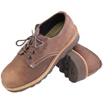 Simple Postman - Lace Up Leather Shoe Brown