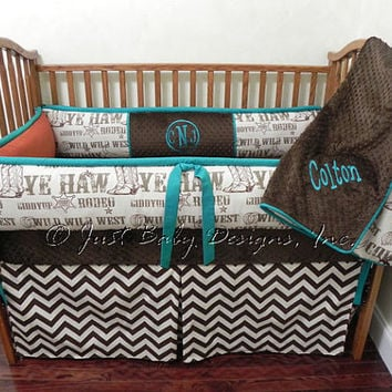 Custom Baby Bedding Set Colton w/ Brown Chevron