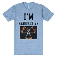 Radioactive-Unisex Athletic Blue T-Shirt