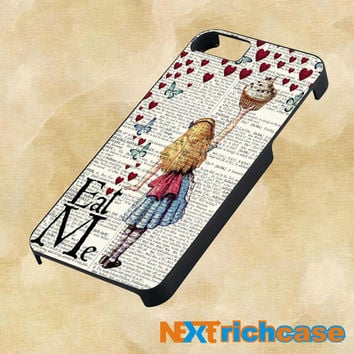 Alice in Wonderland Madhatter Chershire Cat for iphone, ipod, ipad and samsung galaxy case
