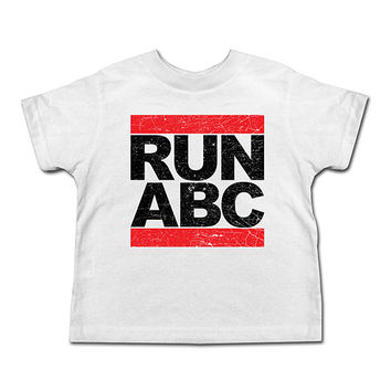 White 'Run ABC' Tee - Toddler & Kids | something special every day