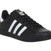 Adidas Superstar Vulc Adv Black White - Hers trainers