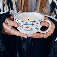 Fortune Teacup Candle- Orange Amber One