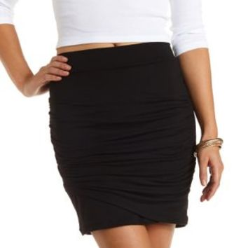 Ruched Tulip Mini Skirt by Charlotte Russe