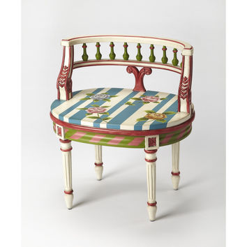 Butler Hathaway Hand Painted Vanity Seat 1218381