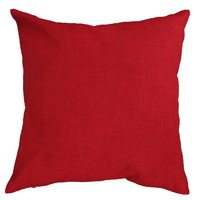 Deconovo Blue Toss Pillow Case Throw Cushion Cover Faux Linen Look For Car, 18x18-inch, Red