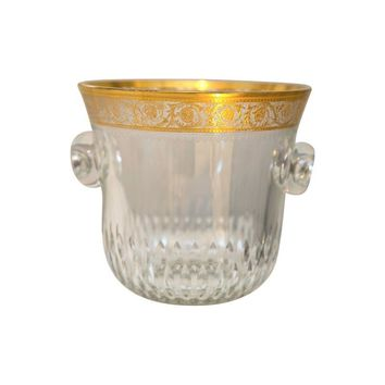 Pre-owned Saint-Louis Thistle Crystal Ice Bucket