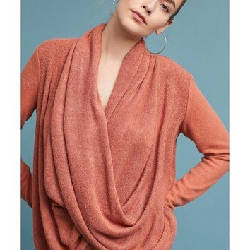 Newton Draped Tunic - Rust