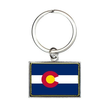 Colorado State Flag Rectangle Keychain