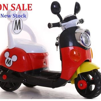 Mickey Child ride on electric toy motorcycle bike For 1-5 years old age baby.
