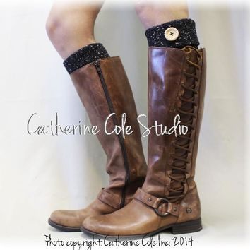 ASPEN boot cuffs - black flecks