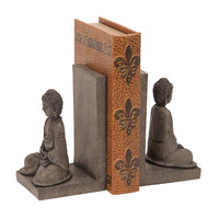 Woodland Imports Library Polystone Buddha Book End (Set of 2)
