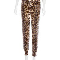 Leopard Printed Mid-Rise Pants