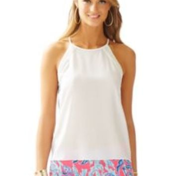 Jolie Silk Halter Top - Lilly Pulitzer