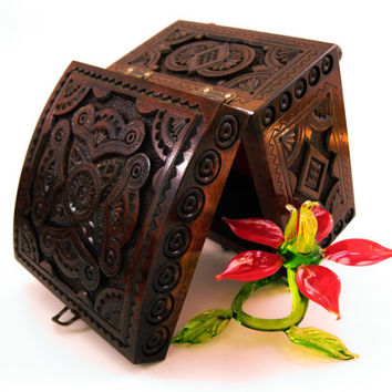 Wedding Box Wooden Jewelry Box Carved Wood Box Wedding Gifts Watch Jewelry Box Decor Jewellery Box  Wood Jewelry Boxes Ring Holder Ring Box
